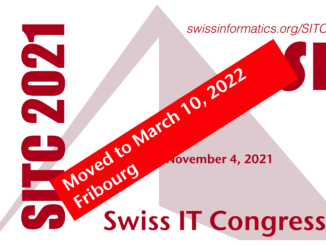 Swiss IT Congress 2021 moved to March 10, 2022